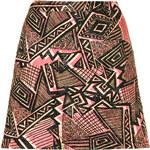 Topshop Textured Jacquard Aline Skirt