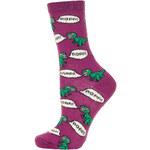 Topshop Magenta Fluffy Dinosaur Socks