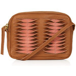 Topshop Mini Twist Leather Crossbody Bag