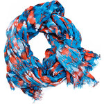 Terranova Patterned viscose scarf