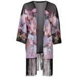 Rock and Rags Fringe Kimono Multi 8 (XS)