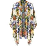 Topshop **Stripe Floral Print Kimono by Love
