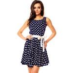 Letní puntíkované šaty Sweet Miss - tmavě modré