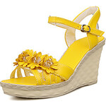 LightInTheBox Leatherette Women's Wedge Heel Wedges Sandals with Flower Shoes(More Colors)