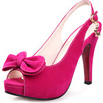 LightInTheBox Suede Women's Stiletto Heel Sling Back Sandals With Bowknot Shoes(More Colors)
