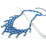 LightInTheBox Women's Pale Blue Woven Costly Diamond Water Droplets Collar Necklace