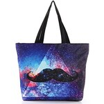 LightInTheBox Elonbo Dazzling Mustache Style Digital Painting Environmental Protection Shopping Bag Shoulder Bag