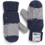 Tommy Hilfiger Colorblock Cable Mittens