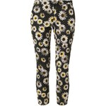 Moschino Cheap and Chic Stoffhose black/yellow/wht