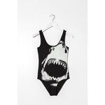 "Tally Weijl Monochrome ""Shark"" Print Bodysuit"