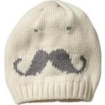 Gap Mustache Beanie - French vanilla