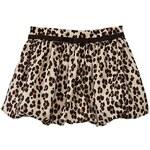 Gap Printed Cord Bubble Skirt - Leopard print