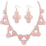 LightInTheBox Pretty Flower Design Alloy with Resin Jewelry Set(Including Necklace And Earrings)(More Colors)