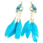 LightInTheBox Fashionable Love Bird Design Alloy with Colored Feather Drop Earrings