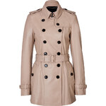 Burberry London Leather Elsgate Trench Coat
