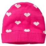 Gap Heart Knit Hat - Pink neon