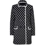 M Missoni Black/White Polka Dot Cotton Knit Coat