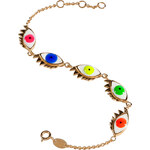Delfina Delettrez Gold-Plated Silver/Enamel 5 Eyes Bracelet