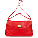 Sergio Rossi Flamenco Red Grainy Leather Satchel
