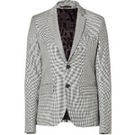 Each Other Wool Check Blazer in Black/White