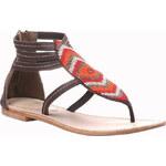 Baťa Kožené sandály v etno stylu zdobené korálky