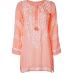 Melissa Odabash Peach/White Embroidered Laura Tunic