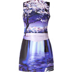 Mary Katrantzou Kardia Dress in Waterfall Purple