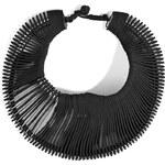 Donna Karan New York Leather/Metal Necklace in Black