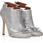 Laurence Dacade Leather Ankle Boots in Silver