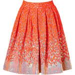 Matthew Williamson Sequined Brocade Skirt in Fluro Orange