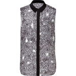 Marc by Marc Jacobs Silk Twilight Printed Blouse in Black Multi