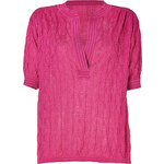 M Missoni Magenta Cotton-Blend Oversized Knit Top