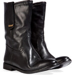 Burberry London Leather Dunbar Half Boots in Black