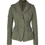 Ermanno Scervino Army Green Embroidered Cotton Jacket
