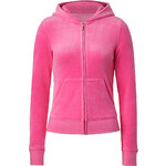 Juicy Couture Velour SJC Laurel Hoodie in Fragrant Rose