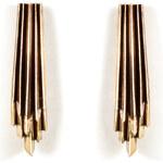 Aesa Brass Wind Wake Earrings