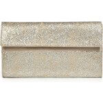 Maison Martin Margiela Cream/Silver Opalescent Leather Clutch
