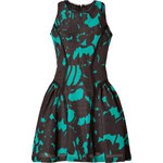 Milly Printed Dress in Black/Teal