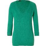 Burberry Brit Cashmere-Cotton V-Neck Pullover in Garnet Green