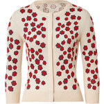 LWren Scott Cream-Multi Embroidered Cashmere-Blend Cardigan