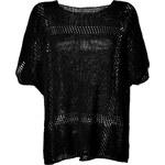 Lala Berlin Black Cotton-Blend Knit Tarot Top