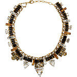 Erickson Beamon Gold-Plated Xenon Necklace with Jet Black Crystals