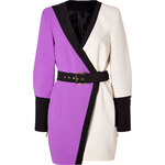Emanuel Ungaro Belted Colorblock Dress