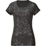 DKNY Cotton Allover Sequined Top in Charcoal