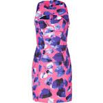 Milly Pink/Multi Cutout Mini Dress