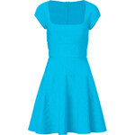Issa Capri Blue Rib Knit Balconette Dress