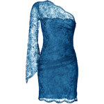 Emilio Pucci One Shoulder Lace Overlay Dress in Ocean