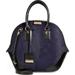 Burberry London Printed Haircalf Medium Orchard Bowling Bag in Royal Purple