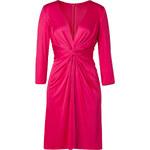 Issa Fuchsia Deep V-Neck Silk Jersey Dress