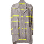 Splendid Light Shadow Beach Plaid Cotton Sweater Coat
